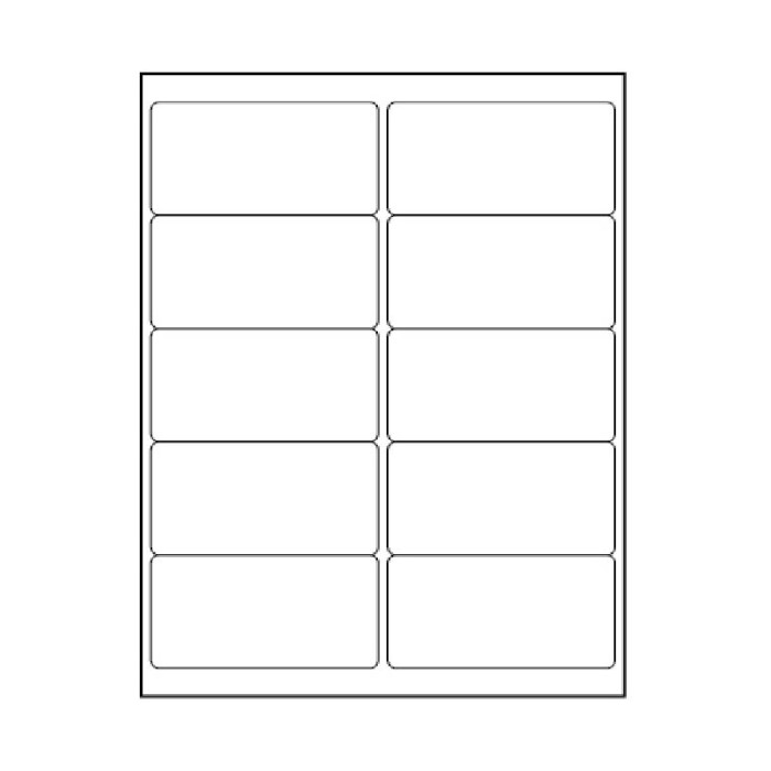 4 in. x 2 in. Clear Laser Labels Sheets