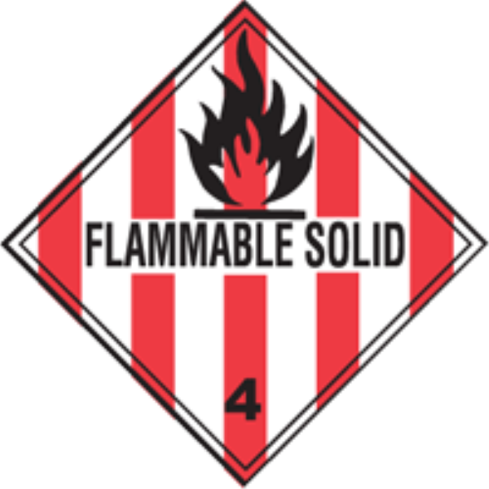 FLAMMABLE SOLID  4 X 4 500/RL