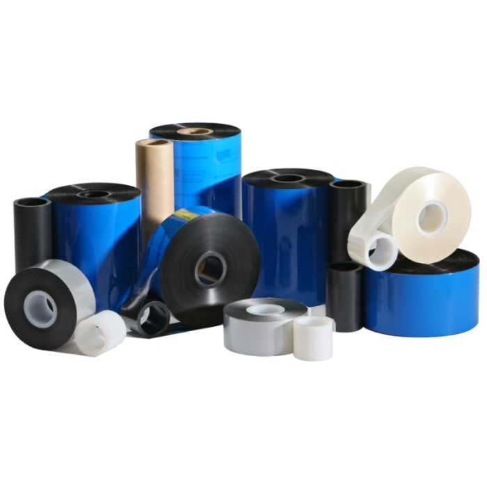 2.05 in. x 1969 ft. Silver Wax Resin Ribbon for Norwood Printers