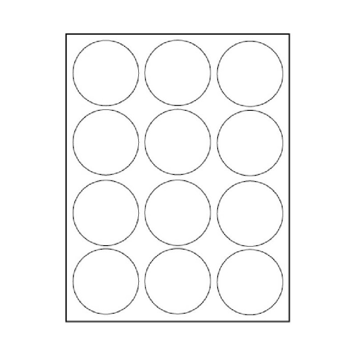 2 1/2 CIRCLE 12-UP 100 SHEETS/BOX