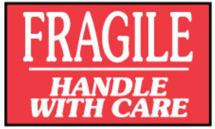 FRAGILE HANDLE WITH CARE 4 X 4 500/RL